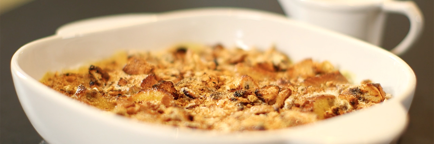 Heston's Hot Cross Bun Bread & Butter Pudding