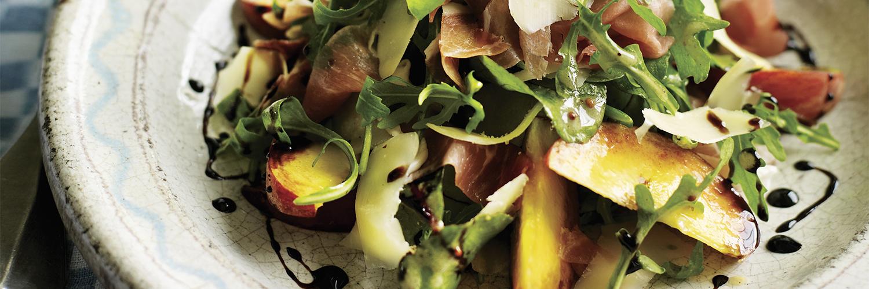 Heston's Peach, Parma Ham and Gruyère Salad