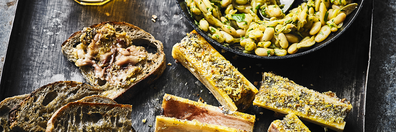 Curried Bone Marrow and Butter Beans